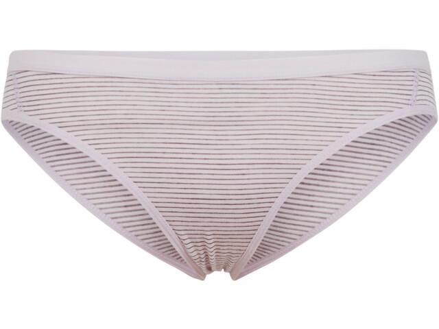 Icebreaker W's Siren Bikini Slip blush heather/stripe